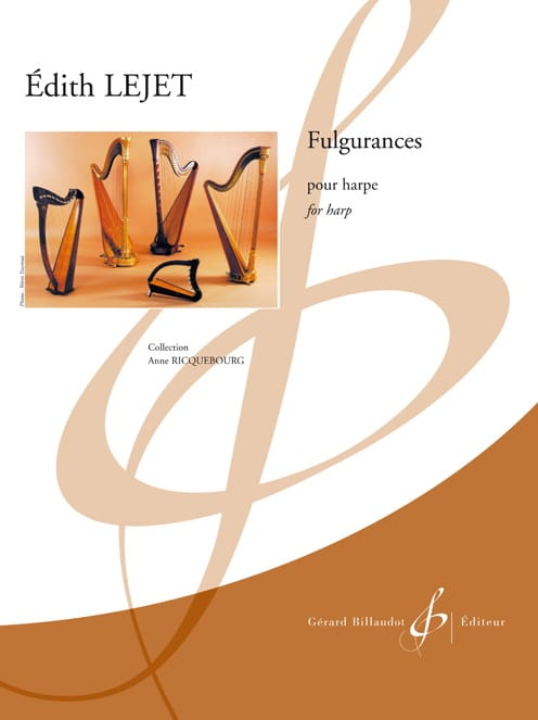 Fulgurances - Harpe - Edith Lejet - Partition - laflutedepan.com