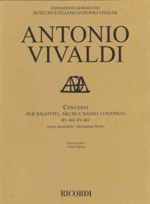 Concerti RV 468, 482 - Conducteur - VIVALDI - laflutedepan.com