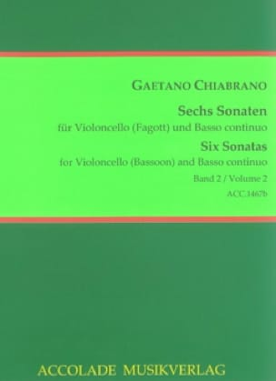 6 Sonaten Vol. 2 - Gaetano Chiabrano - Partition - laflutedepan.com