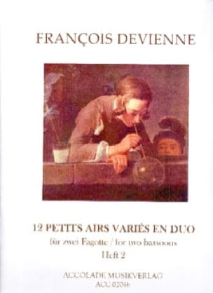 12 Petits Airs Variés en Duo Vol. 2 - DEVIENNE - laflutedepan.com