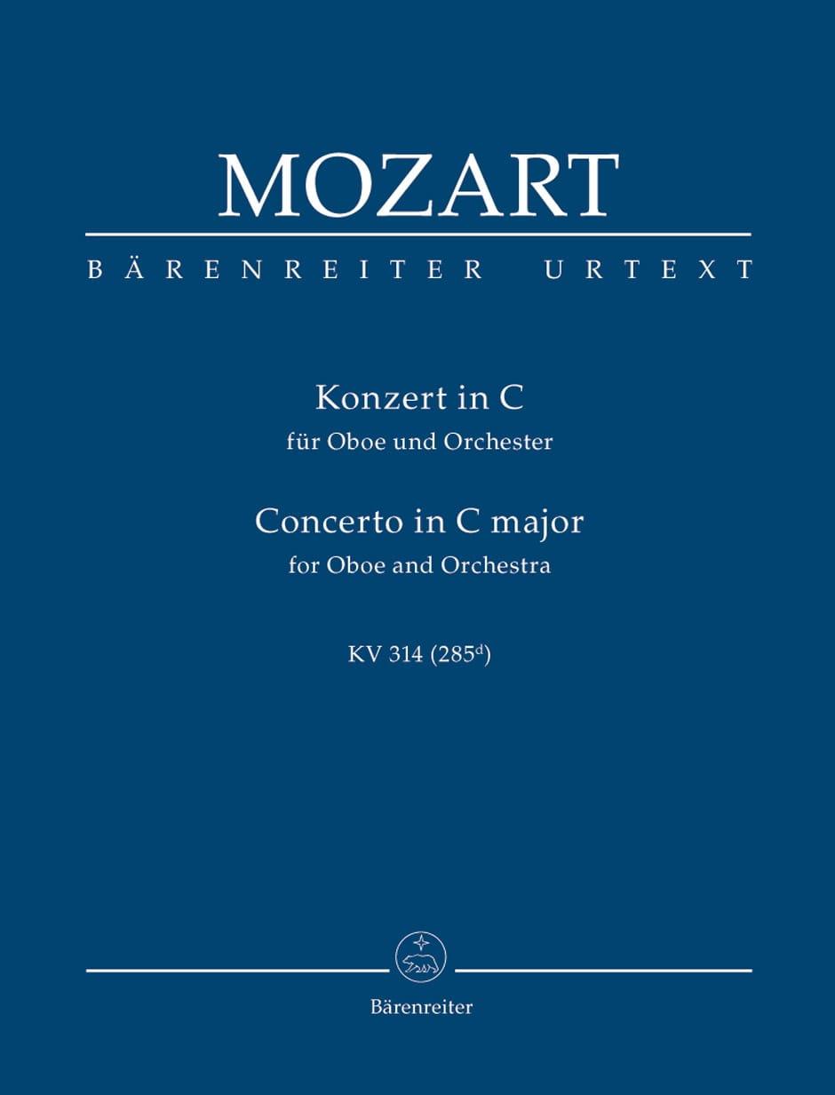 Oboenkonzert C-Dur KV 314 - Partitur - MOZART - laflutedepan.com