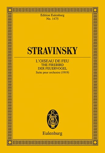 L'Oiseau de Feu - STRAVINSKY - Partition - laflutedepan.com