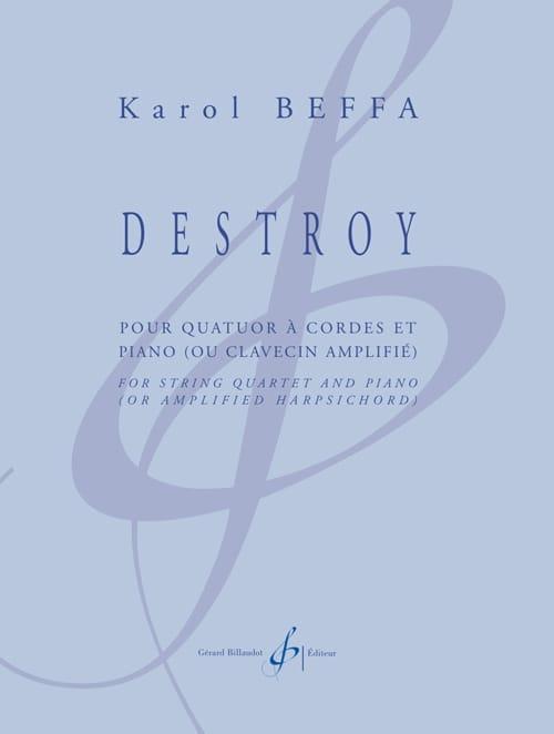 Destroy - Karol Beffa - Partition - Quintettes - laflutedepan.com