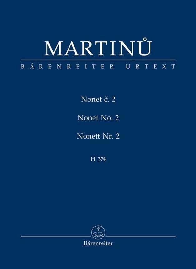 Nonette n° 2 - Conducteur Poche - MARTINU - laflutedepan.com