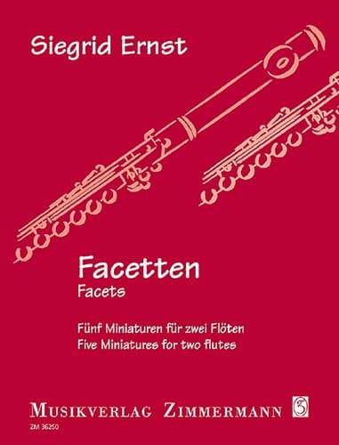 Facetten - 2 Flûtes - Siegrid Ernst - Partition - laflutedepan.com