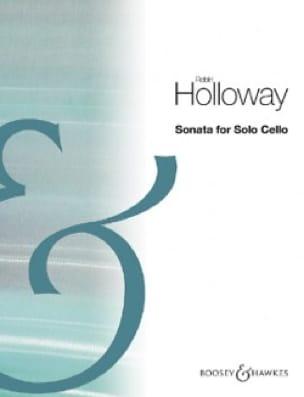 Sonata - Violoncelle Solo - Robin Holloway - laflutedepan.com