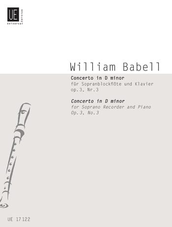 Concerto in D minor, op. 3 n° 3 - William Babell - laflutedepan.com