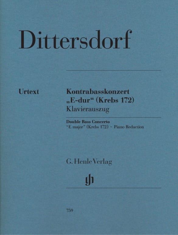 Carl Ditters Von Dittersdorf - Concerto Mi Majeur - Partition - di-arezzo.co.uk