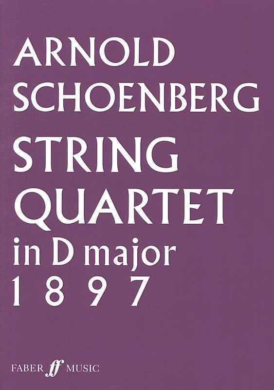 String Quartet In D Major 1897 - Score - SCHOENBERG - laflutedepan.com