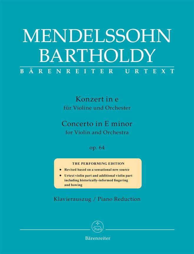 MENDELSSOHN - Concerto op. 64 - Violin and Piano - Partition - di-arezzo.com