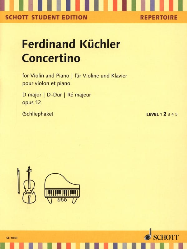 Ferdinand Küchler - Concertino, op. 12 - Violin and Piano - Partition - di-arezzo.com