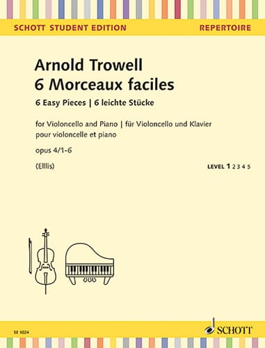 Arnold Trowell - 6 Easy Pieces, op. 4 - Cello and Piano - Partition - di-arezzo.co.uk