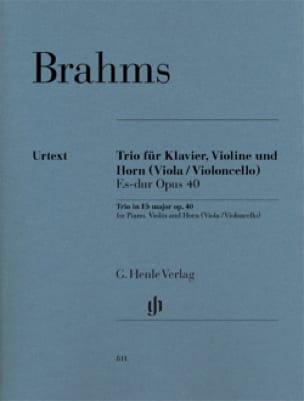 BRAHMS - Trío en Eb M., op. 40 - Cuerno, violín y piano - Partition - di-arezzo.es