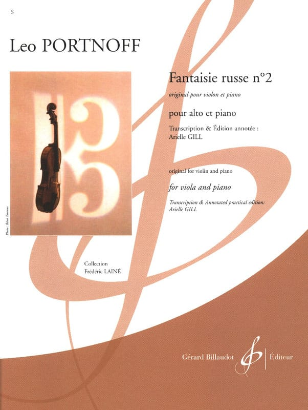 Leo Portnoff - Fantaisie Russe n° 2 - Partition - di-arezzo.ch