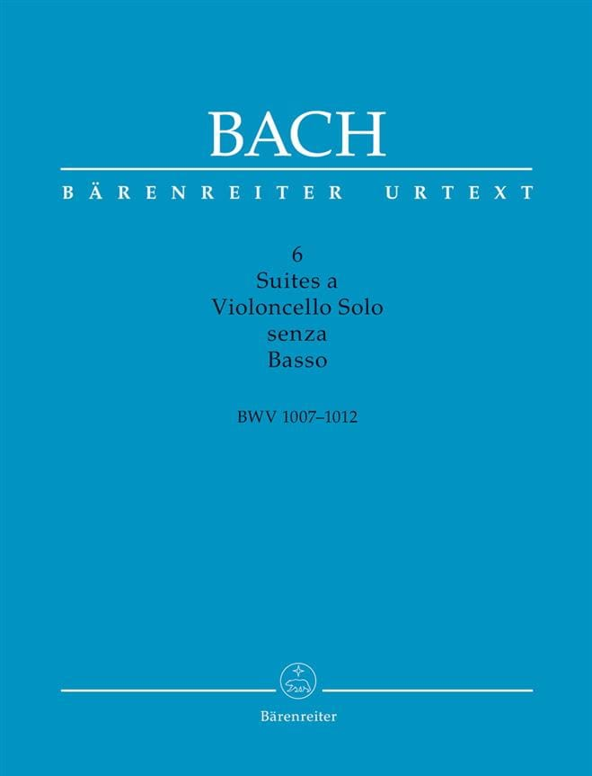 BACH - 6 Suites for Cello Alone - Partition - di-arezzo.com
