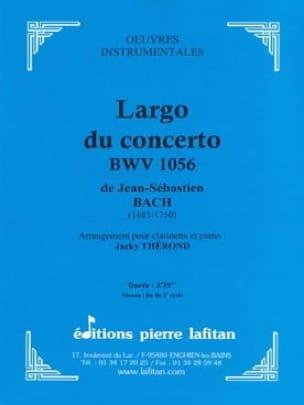 BACH - Largo From Concerto BWV 1056 - Partition - di-arezzo.co.uk