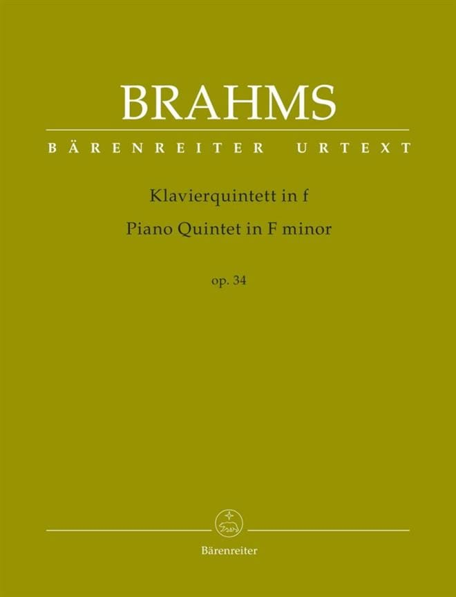 BRAHMS - Quintet in F minor, op. 34 - Partition - di-arezzo.com