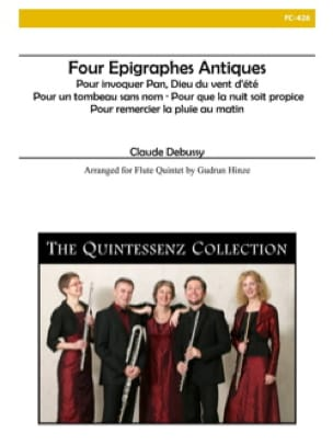 DEBUSSY - 4 Ancient Epigraphs - 5 Flutes - Partition - di-arezzo.co.uk