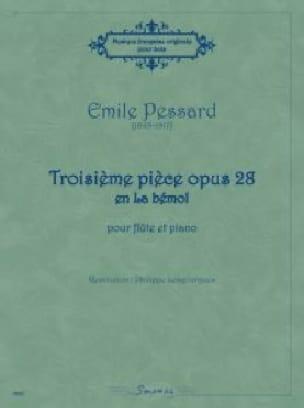 Troisième pièce opus 28 en La bémol - Emile Pessard - laflutedepan.com