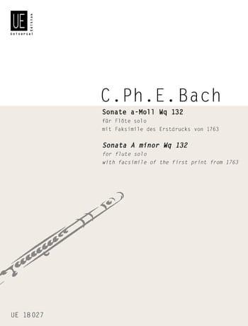 Carl Philipp Emanuel Bach - Sonata in A minor Wq 132 - Partition - di-arezzo.com