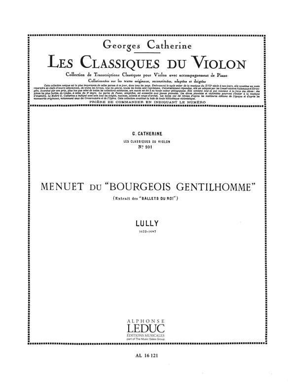 Menuet du Bourgeois Gentilhomme - laflutedepan.com