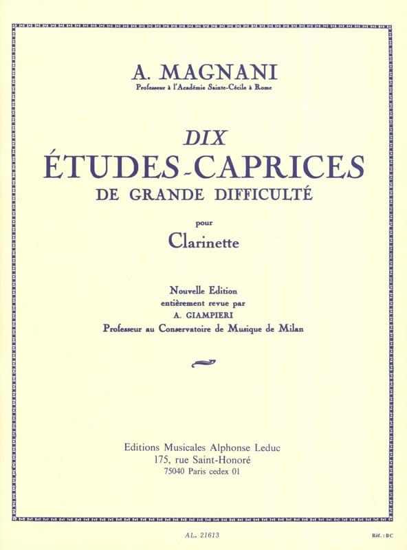 10 Etudes-caprices - A. Magnani - Partition - laflutedepan.com