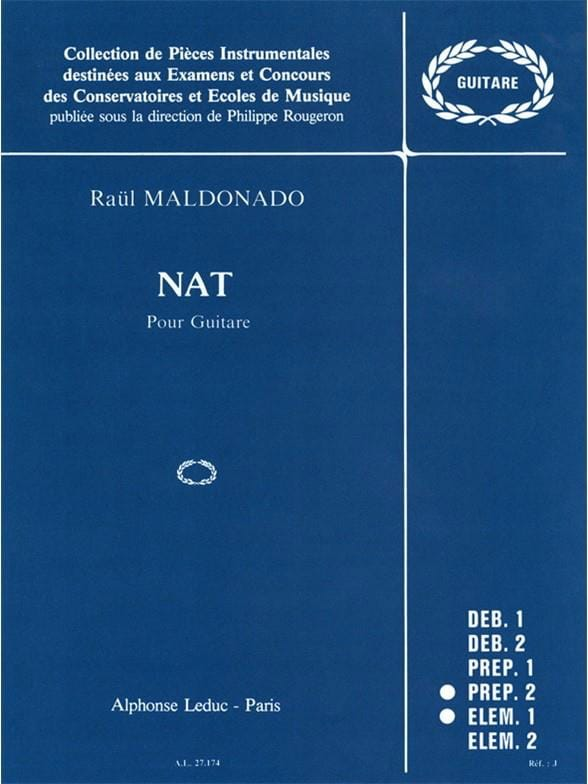 Nat - Raul Maldonado - Partition - Guitare - laflutedepan.com