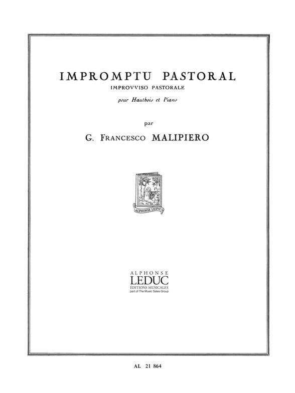 Impromptu pastoral - Gian Francesco Malipiero - laflutedepan.com
