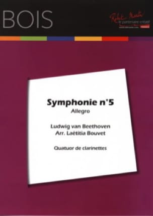 BEETHOVEN - Allegro of the Symphony No. 5 - 4 Clarinets - Partition - di-arezzo.co.uk