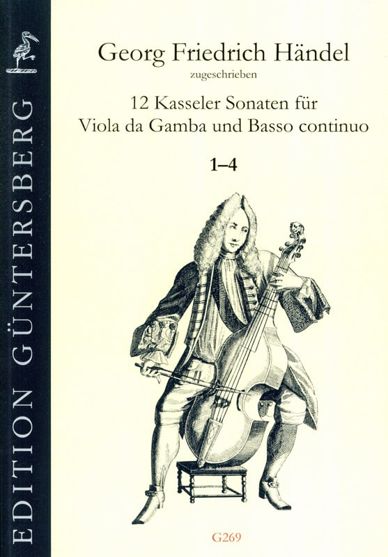 12 Sonates 1-4 - Viola da gamba and BC - HAENDEL - laflutedepan.com