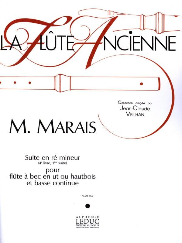 Marin Marais - Suite in D minor - Recorder or Oboe and Bc - Partition - di-arezzo.co.uk