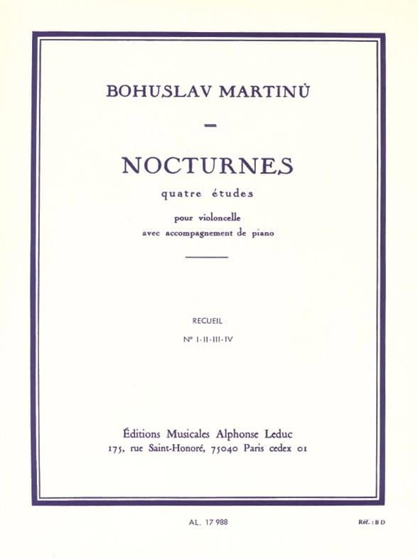 Bohuslav Martinu - Nocturnes - Compendium - Partition - di-arezzo.co.uk