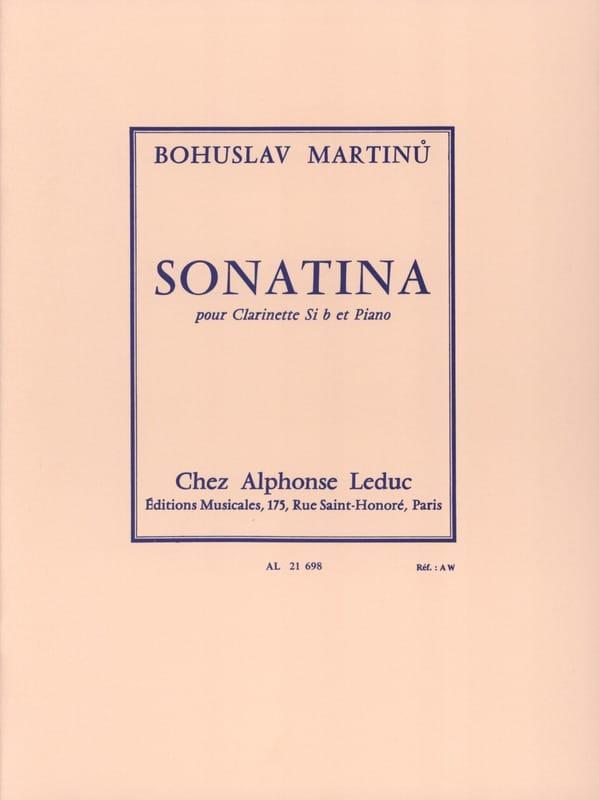 Sonatina pour clarinette - MARTINU - Partition - laflutedepan.com