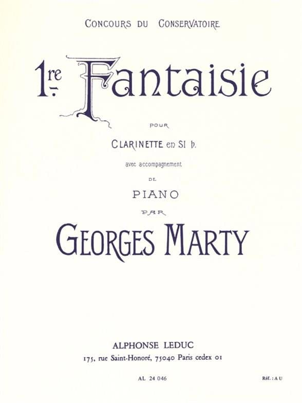 Fantaisie n° 1 - Georges Marty - Partition - laflutedepan.com
