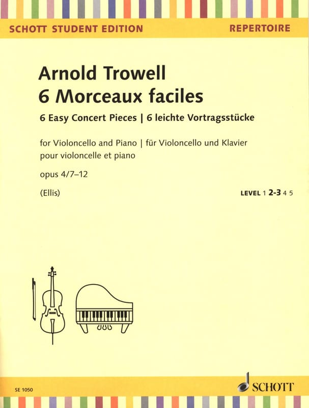 Arnold Trowell - 6 Easy Songs - Cello and Piano - Partition - di-arezzo.co.uk
