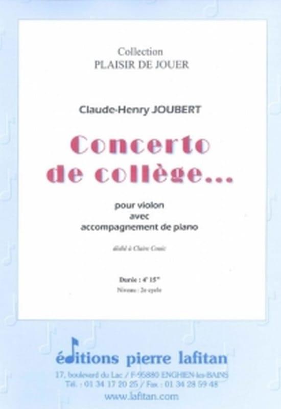 Concerto de collège... - Claude-Henry Joubert - laflutedepan.com