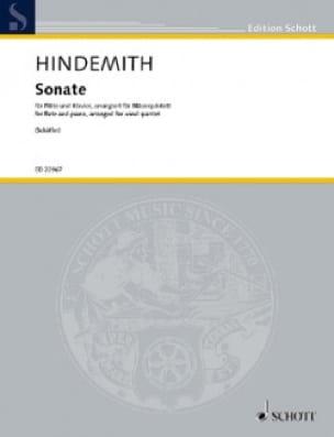 Sonate - Quintette à Vents - Paul Hindemith - laflutedepan.com