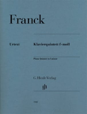 César Franck - Quintet with Piano in F minor - Partition - di-arezzo.co.uk