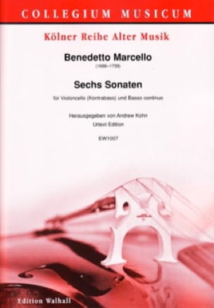 Benedetto Marcello - 6 Sonatas - Cello and BC - Partition - di-arezzo.co.uk
