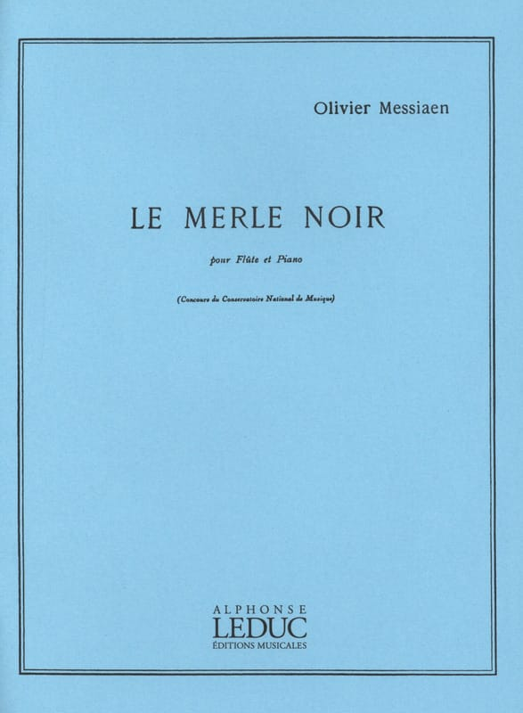 Le Merle Noir - MESSIAEN - Partition - laflutedepan.com