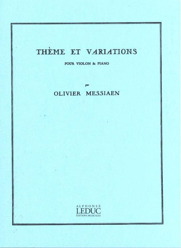 Thème et variations - MESSIAEN - Partition - Violon - laflutedepan.com