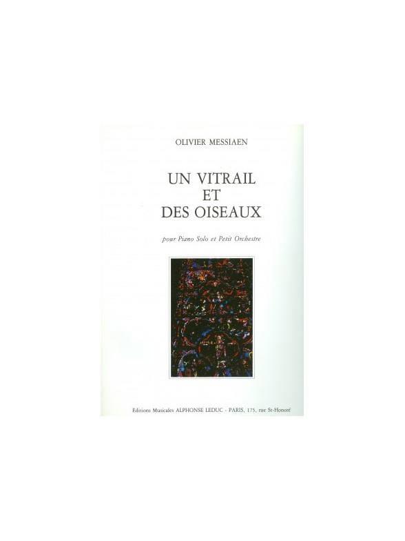 Un Vitrail et des Oiseaux - Conducteur - MESSIAEN - laflutedepan.com