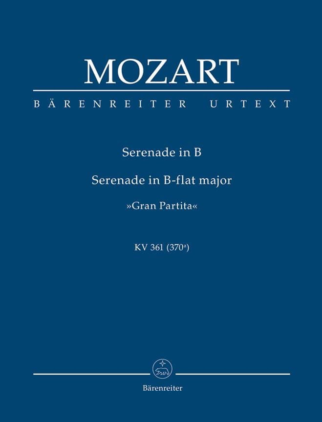 MOZART - Gran Partita B-Dur Serenade KV 361 - Partition - di-arezzo.com
