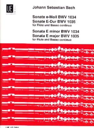 Sonaten, BWV 1034 e-moll, 1035 E-Dur - Flöte u. Bc - laflutedepan.com