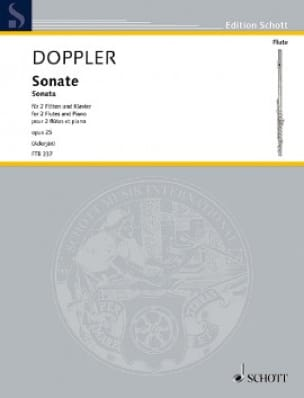Franz Doppler - Sonate, Opus 25 - 2 Flutes and Piano - Partition - di-arezzo.com