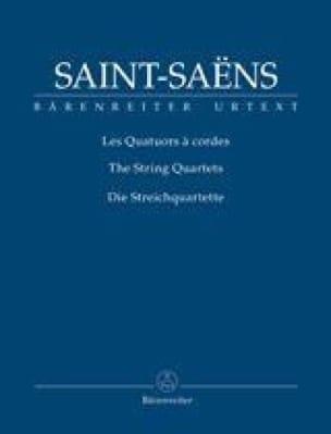 Camille Saint-Saëns - Quatuors à Cordes - Partition - di-arezzo.fr