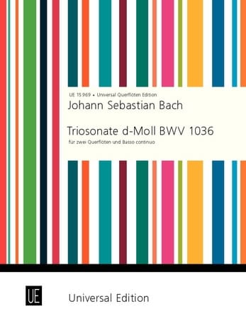 BACH - Triosonate d-moll Re Min. - 2 Flöten - BC - Partition - di-arezzo.com