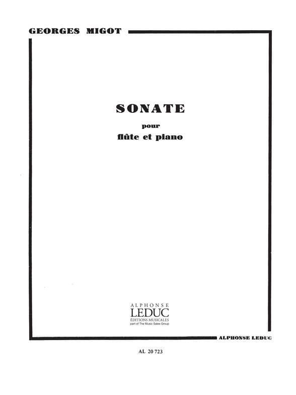 Sonate - Flûte piano - Georges Migot - Partition - laflutedepan.com