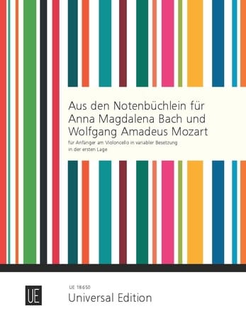 Bach Johann Sebastian / Bach Carl Philipp Emanuel / Mozart Leopold - From the Notebooks for Anna Magdalena Bach - Wolfgang Amadeus Mozart - Partition - di-arezzo.com