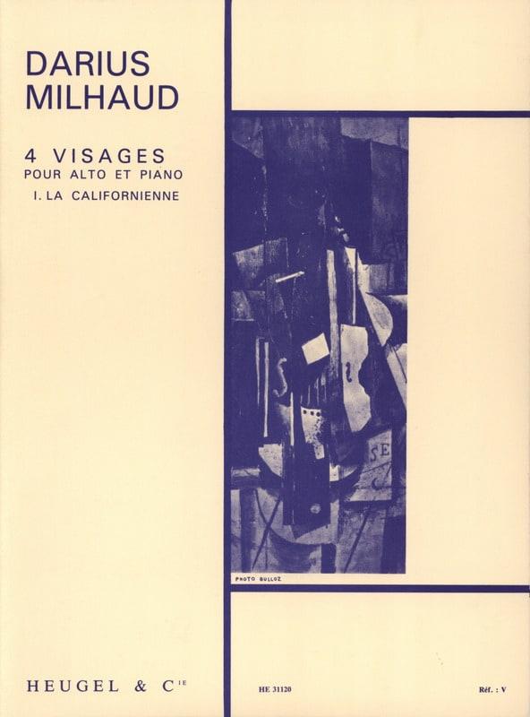 Darius Milhaud - 4 Faces - N ° 1 the Californian - Partition - di-arezzo.com